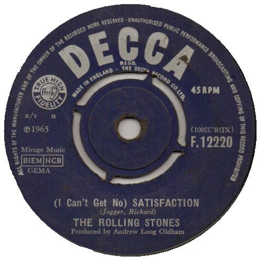 The Rolling Stones - (I Can't Get No) Satisfaction / The Spider And The Fly (1965) Decca