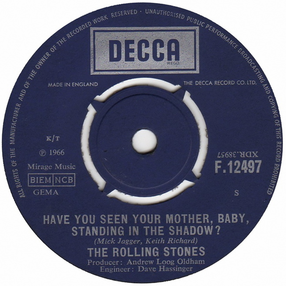 The Rolling Stones - Have You Seen Your Mother, Baby, Standing in the Shadow? / Who's Driving Your Plane?