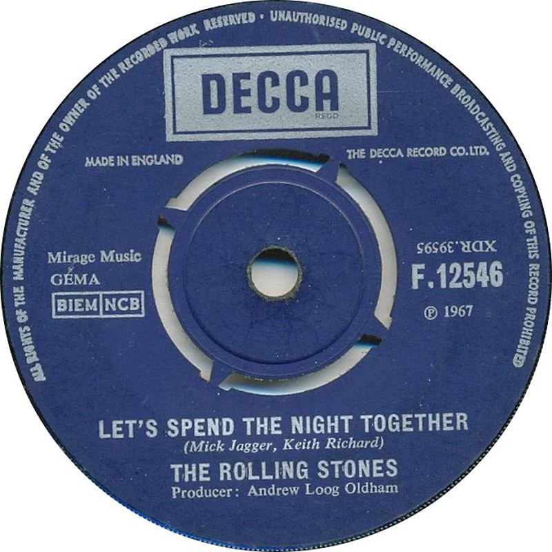 The Rolling Stones - Let's Spend The Night Together / Ruby Tuesday (UK/Decca) 1967
